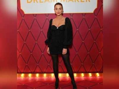 Amy Jackson looks stunning in a black ensemble