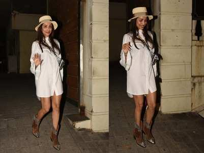 Pics: Malaika makes heads turn in a shirtdress