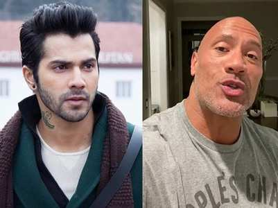Varun comments 'Role Model' on The Rock's post