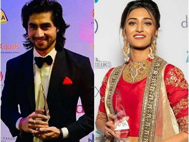 Erica Fernandes and Harshad Chopda win big at a TV award function in London