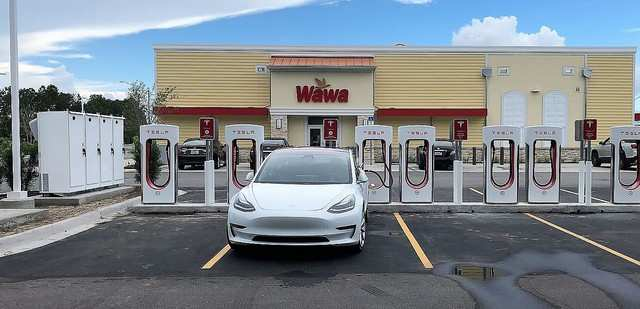 Tesla supercharger station catches fire in New Jersey