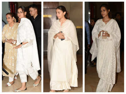 Pics: Manish Malhotra's father's prayer meet