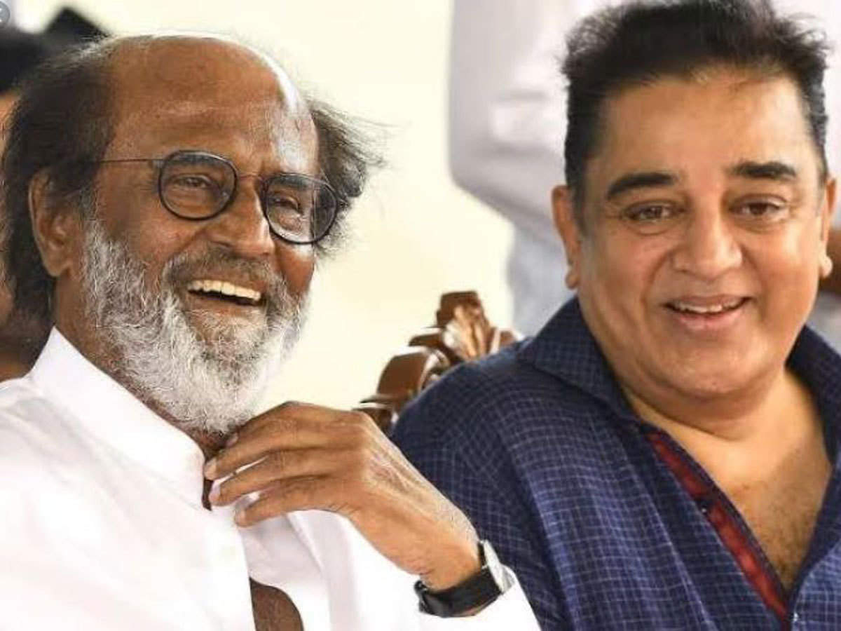 Rajinikanth: May join hands 'if need arises': Rajinikanth & Kamal Haasan |  Chennai News - Times of India