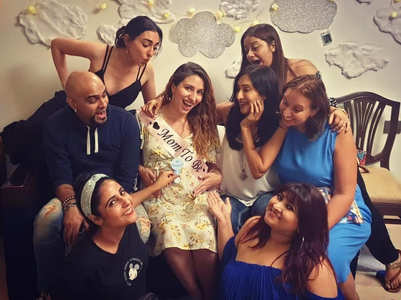 Baby shower pics of Raghu Ram's wife