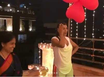 Watch: Rohman throws Sushmita a surprise bash