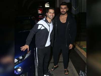 Varun & Arjun get snapped post workout session