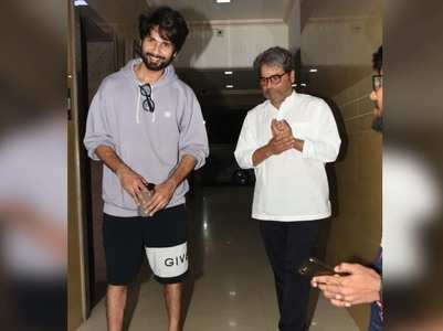 Photos: Shahid Kapoor meets Vishal Bhardwaj