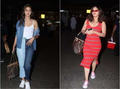 PICS: Ananya and Bhumi papped at the airport