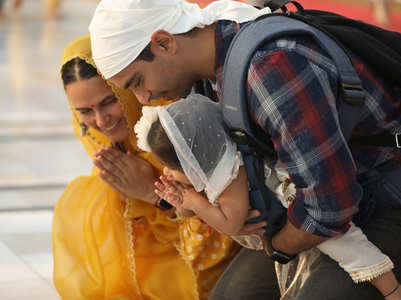 Neha -Angad visit the Golden Temple with Mehr