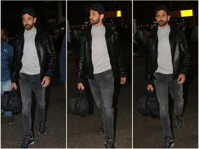 Pics: Hrithik looks dapper at the airport