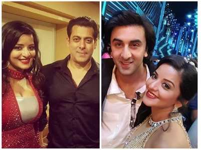 When Monalisa was snapped with Bollywood stars