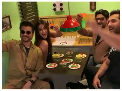 Ileana enjoys Pagalpanti tea party co-stars