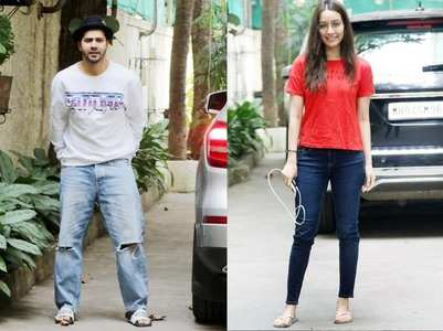 Varun-Shraddha share videos from dubbing studio