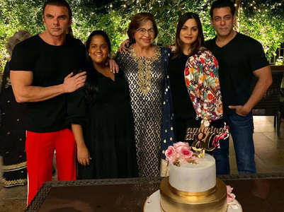 Pics: Helen's 80th b'day with Salman & family