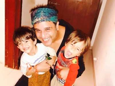 Krushna exercises with his kids