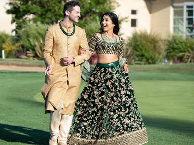 This American professor wore a Sabyasachi sherwani for his Indian wedding