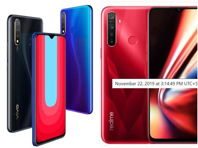 Vivo U20 vs Realme 5s: How the two new phones under Rs 15,000 compare