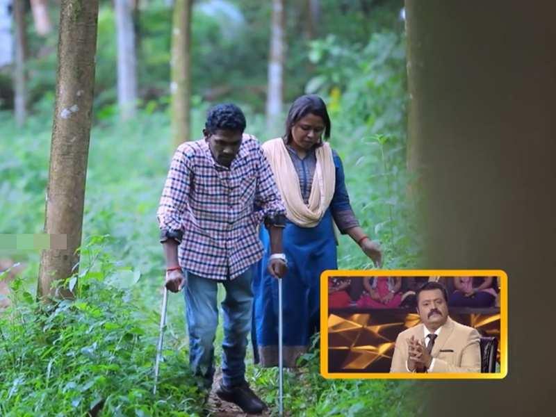 Ningalkkum Aakaam Kodeeshwaran: Suresh Gopi salutes contestant Sangeetha's selfless love for her specially-abled husband