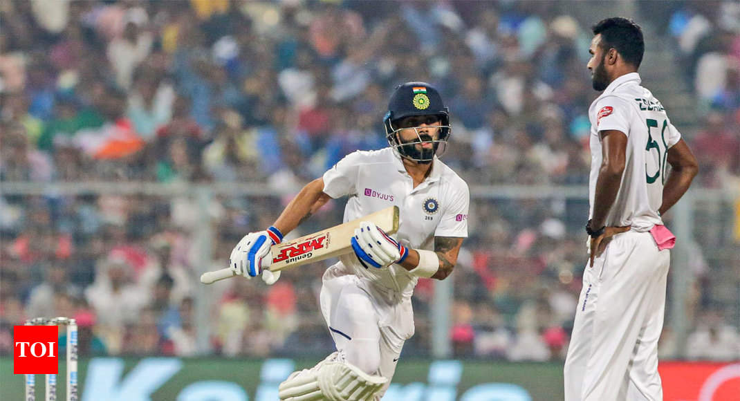 India vs Bangladesh Highlights, Pink-Ball Test: Kohli, Pujara fifties take India to 174/3 at stumps on Day 1