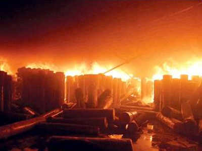 Major fire breaks out at fabric unit in Ambala   Gurgaon