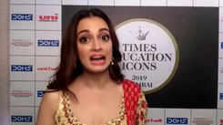 Times Educational Icon Awards 2019 Dia Mirza talks about today's children and their education