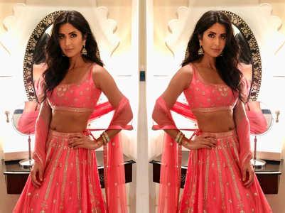 Pics: Katrina wore the most exotic lehenga choli for a wedding