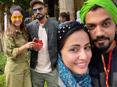 Hina and beau Rocky spend time in Pushkar
