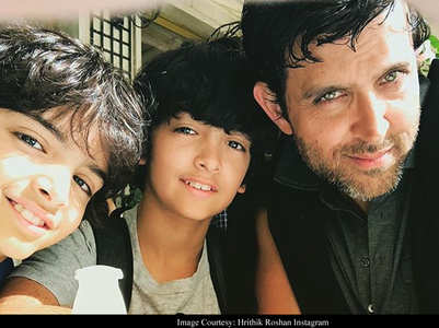 Hrithik has no issues with paps clicking kids