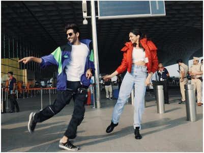 Deepika-Kartik trolled for airport jig
