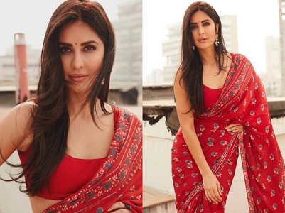 Katrina Kaif's red sari is perfect for a new bride
