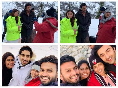 Brahmastra: BTS pics of Alia-Ranbir from Manali