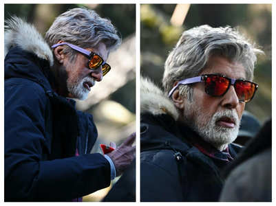 Pics of Big B on the sets of 'Brahmastra'