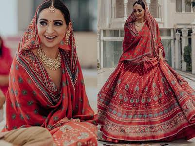 The bride wore a beautiful Anita Dongre lehenga