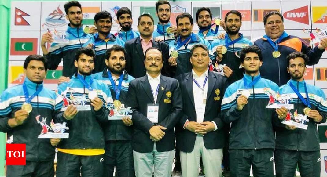 South Asian Games: Indian men's, women's badminton teams win gold medals