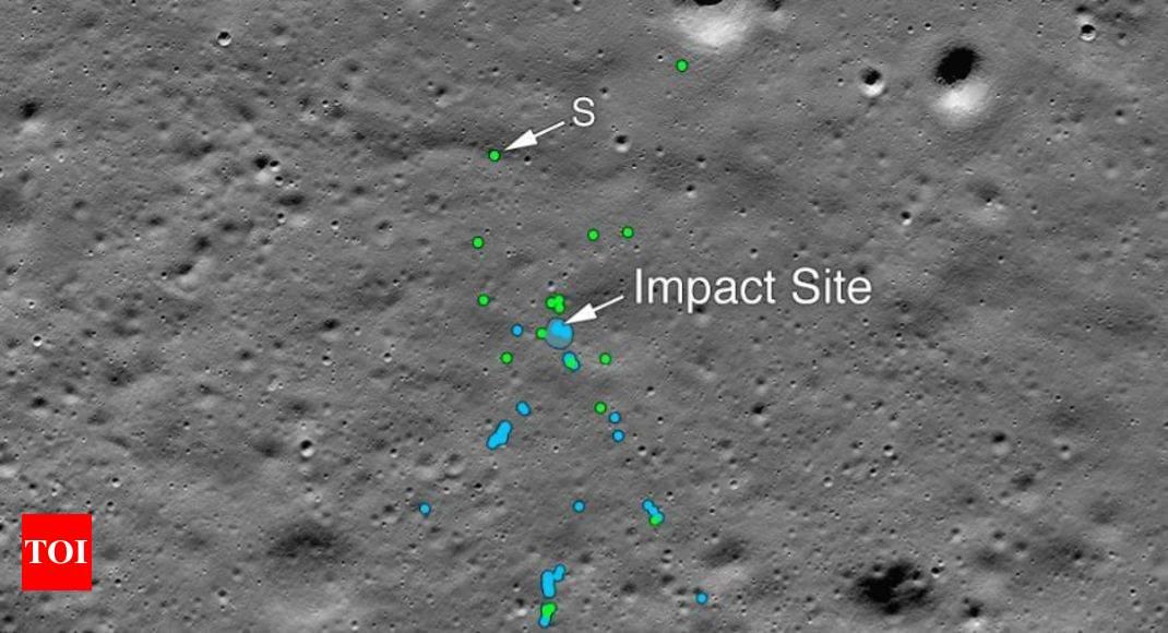 Nasa's LRO camera spots Vikram debris on Moon surface | India News - Times of India