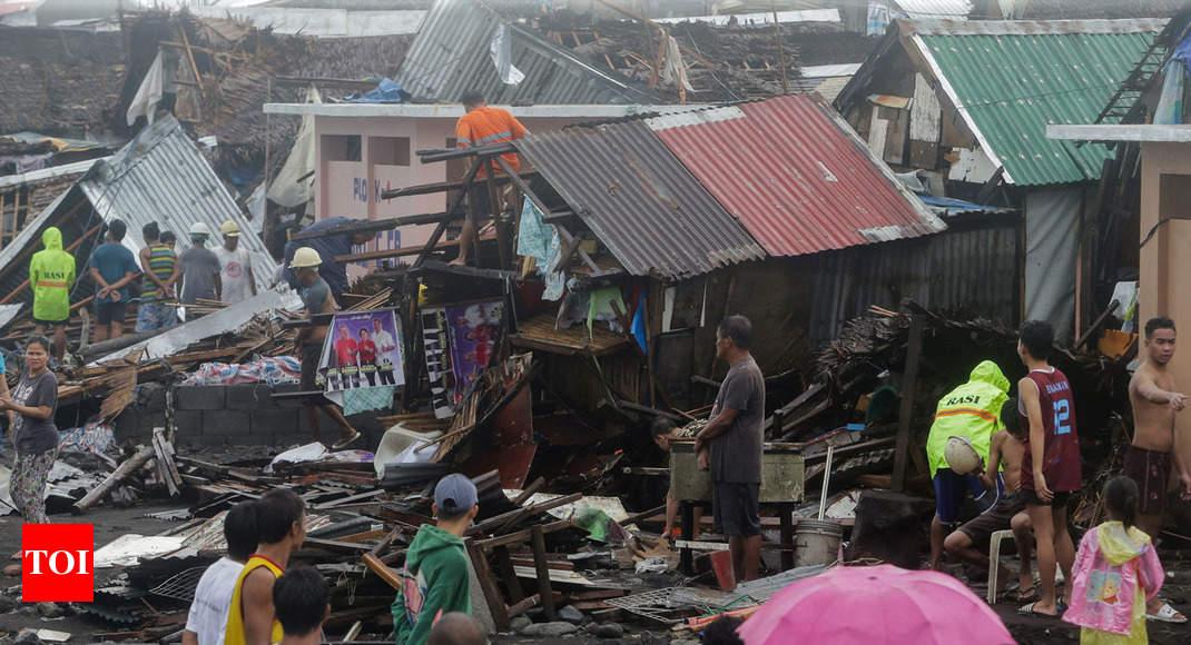 Typhoon Kammuri pounds Philippines, closes Manila airport