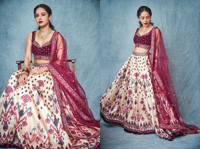 Nushrat's lehenga choli will make you stand out in a crowd