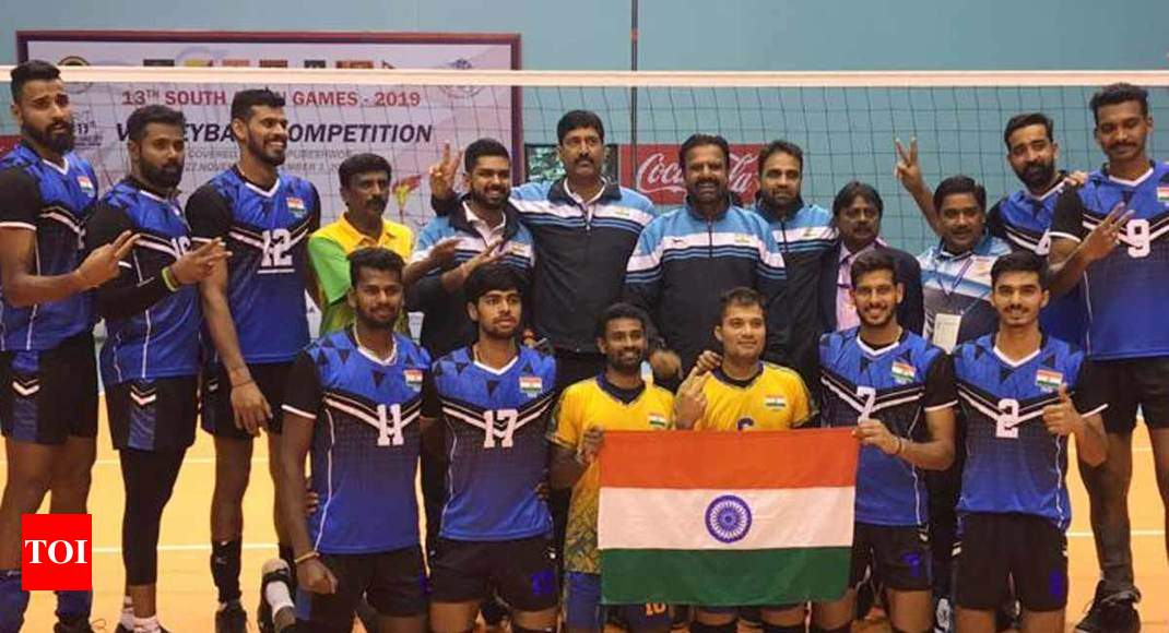 India beat Pakistan to win men's volleyball gold in South Asian Games - Times of India
