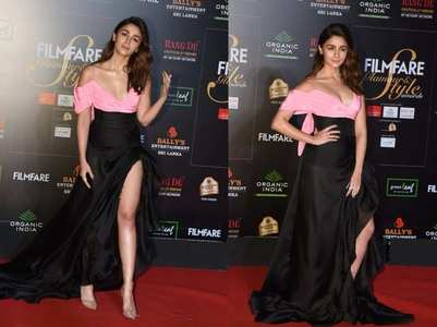 Pics: Alia stuns in a thigh-high slit ensemble