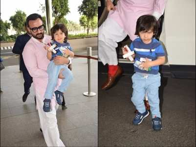 Taimur snapped with dad Saif Ali Khan