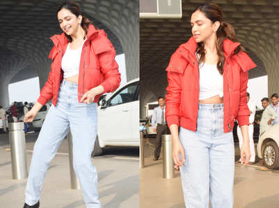 The price of Deepika Padukone's red jacket will give you winter chills