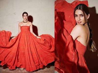 Photos: Kriti stuns in an orange ensemble
