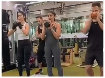 Watch: Katrina Kaif working out in the gym