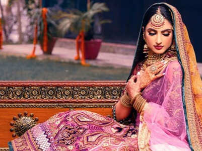 This bride's shaded lehenga is gorgeous!