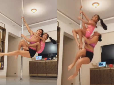 Aashka, Samairra swing on the pole like pros