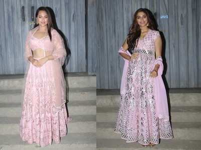 Photos: Sonakshi & Saiee twin in pink