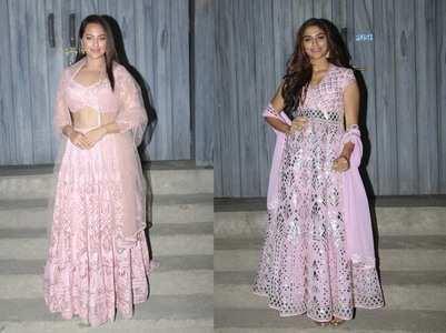 Photos: Sonakshi & Saiee twin in pink