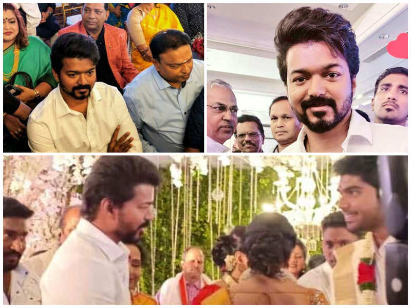 Vijay attends a wedding; pics go viral in no time