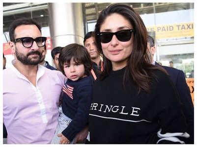 Taimur snapped with Kareena and Saif