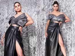 Sai Tamhankar looks dazzling in her glittery grey outfit!